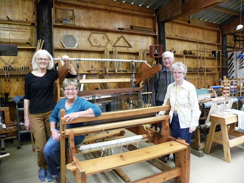Chris Simonen's Family Loom in Antique Gas and Engine Museum in Vista, California